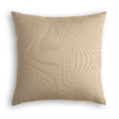 Handwoven Tan Herringbone Pillow