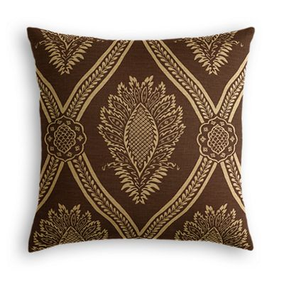 Brown Medallion Trellis Pillow