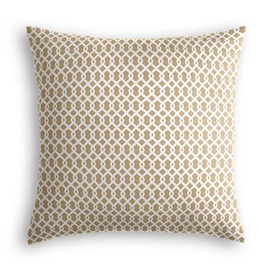 Beige Mini Trellis Pillow