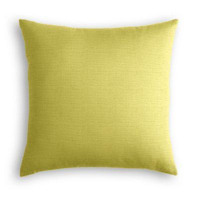 Lime Green Linen Throw Pillow