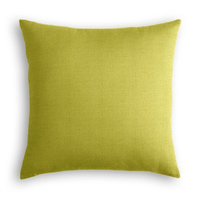 Chartreuse Green Linen Pillow
