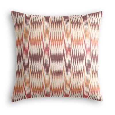 Orange & Pink Flame Stitch Pillow