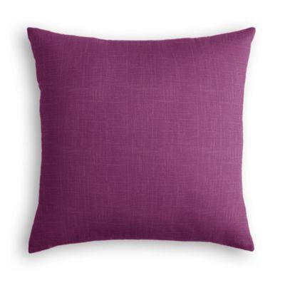 Magenta Purple Linen Throw Pillow