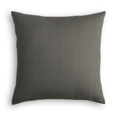 Charcoal Gray Linen Pillow