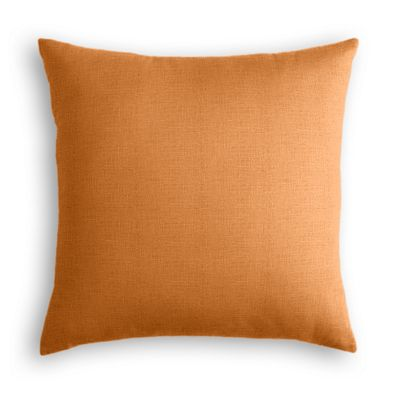 Burnt Orange Linen Pillow