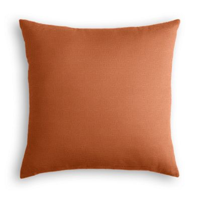 Burnt Orange Slubby Linen Pillow