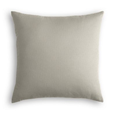 Beige Slubby Linen Pillow