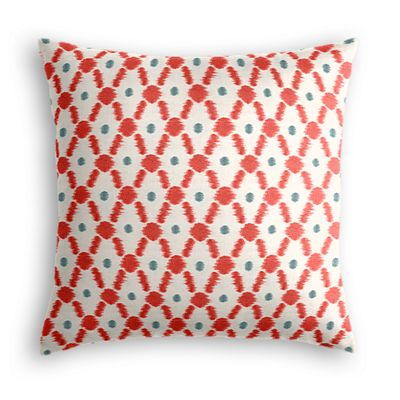 Red Ikat Diamond Pillow
