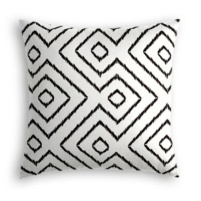 Black & White Diamond Pillow