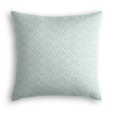 Aqua Geometric Maze Pillow