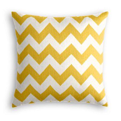 Bright Yellow Chevron Throw Pillow
