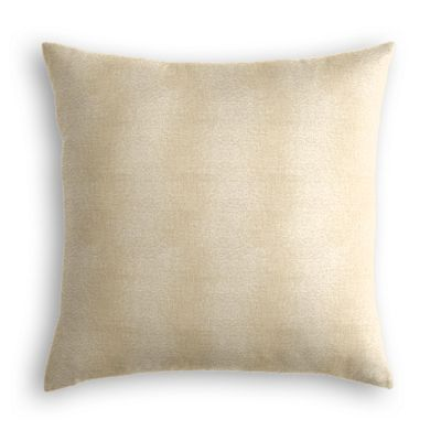 Silvery Tan Metallic Linen Pillow