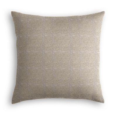 Silvery Gray Metallic Linen Pillow