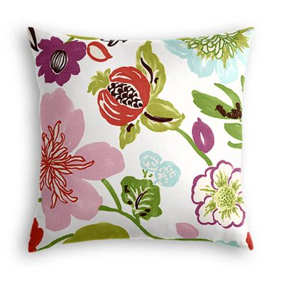 Pink & Purple Floral Pillow