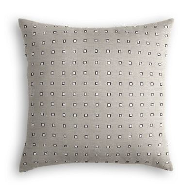 Silver Studded Taupe Pillow