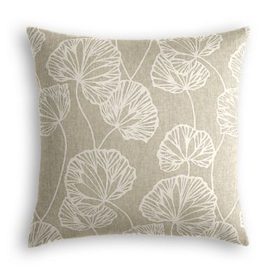 Beige Fan Leaf Pillow