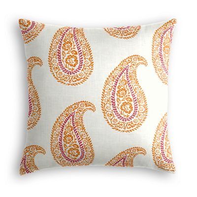 Orange & Pink Paisley Pillow