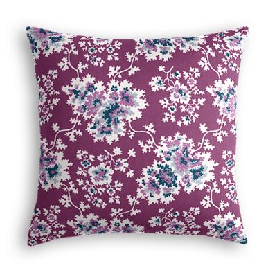 Purple & Teal Leaf Pillow