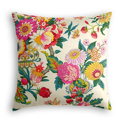 Candy-Colored Chinoiserie Pillow
