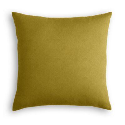 Chartreuse Green Velvet Pillow