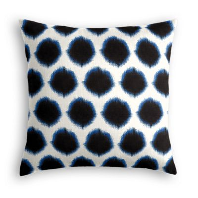 Black & Blue Dot Pillow