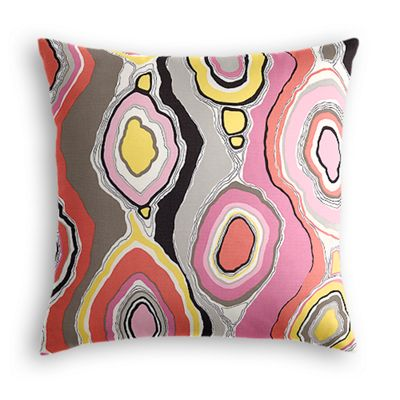 Hot Pink & Orange Abstract Pillow