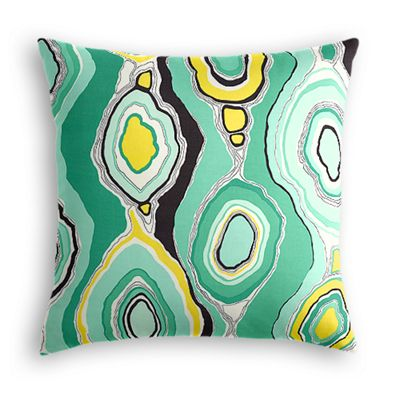 Lime Green & Yellow Abstract Pillow