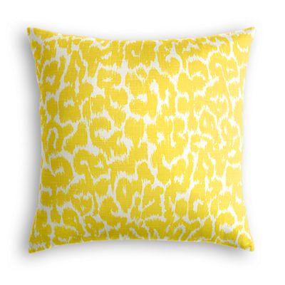 Yellow Leopard Print Pillow
