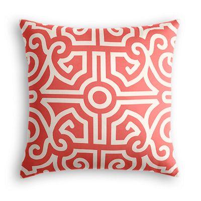 Modern Coral Trellis Pillow