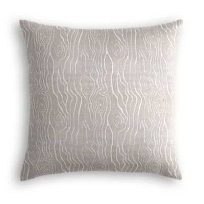 Gray Faux Bois Velvet Pillow