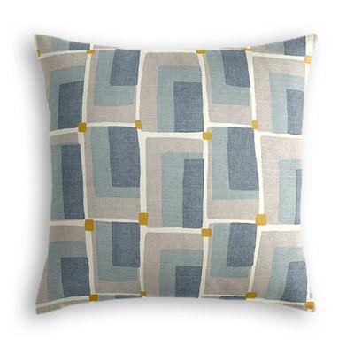 Blue & Gray Geometric Pillow