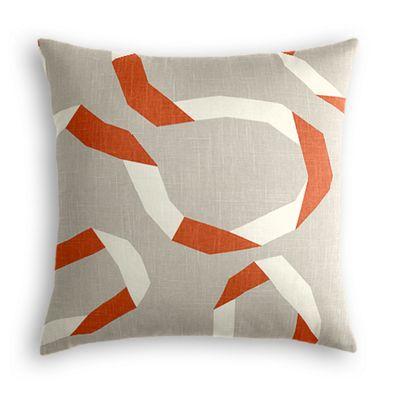 Orange Red Ribbon Pillow