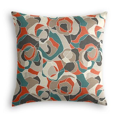 Red Orange Abstract Pillow