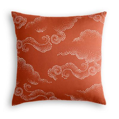 Burnt Orange Cloud Pillow