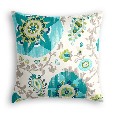 Aqua Blue Suzani Pillow