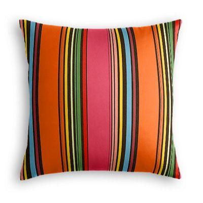 Pink Multicolor Stripe  Pillow