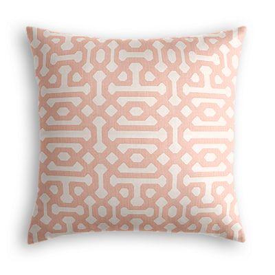 Pale Coral Trellis Pillow