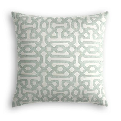 Pale Seafoam Trellis Pillow