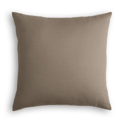 Taupe Sunbrella® Canvas Pillow