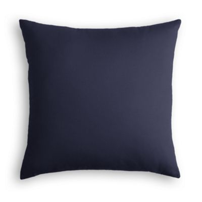 Navy Blue Sunbrella® Canvas Pillow