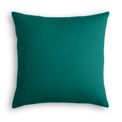 Teal Sunbrella® Canvas Pillow