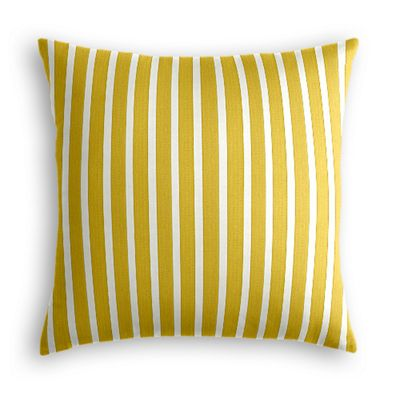 Bright Yellow Thin Stripe Pillow