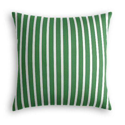 Emerald Green Thin Stripe Pillow