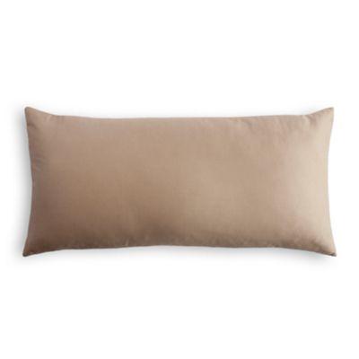 Slate Blue Slubby Linen Lumbar Pillow