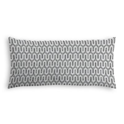 Pale Gray Geometric Lumbar Pillow