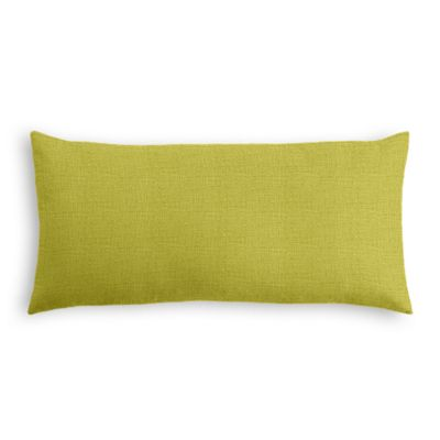 Chartreuse Green Linen Lumbar Pillow