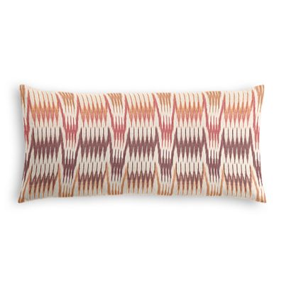 Orange & Pink Flame Stitch Lumbar Pillow