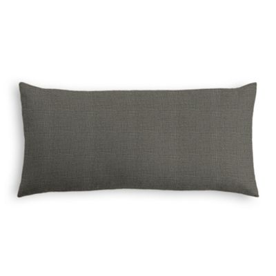 Charcoal Gray Linen Lumbar Pillow