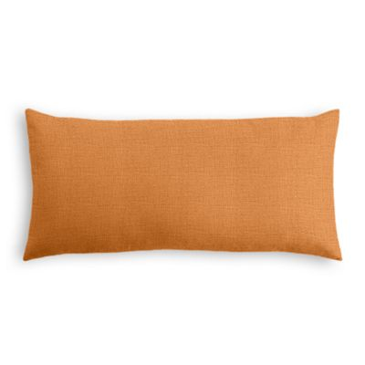 Burnt Orange Linen Lumbar Pillow