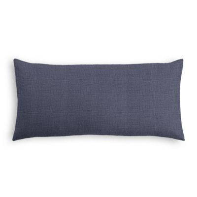 Navy Blue Lightweight Linen Lumbar Pillow